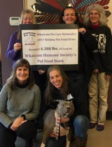 Whatcom Humane Society, 2017 Holiday Pet Food Drive, Whatcom Pet Care